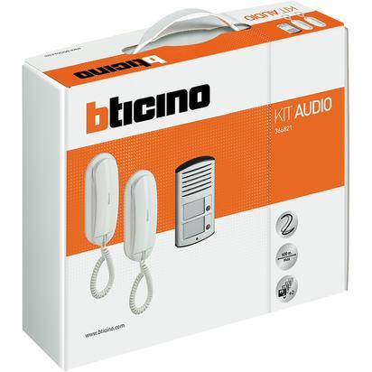 bTicino Kit citofono bifamiliare audio 2 fili da parete