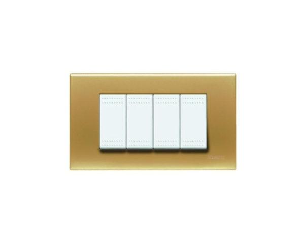 Placca 4 moduli – Oro satinato