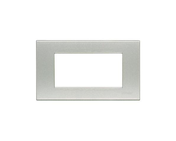 Placca 4 moduli – Giallo perla