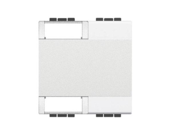 Copritasto Livinglight personalizzabile 2 funzioni – 2 moduli – bianco