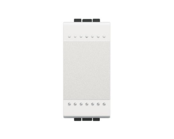Copritasto neutro illuminabile a 1 modulo per comandi sprovvisti di copritasto – Bianco