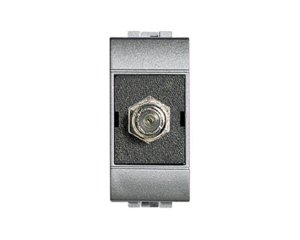 Connettore coassiale TV – standard F – impedenza 75 ohm – connessione a vite – Tech