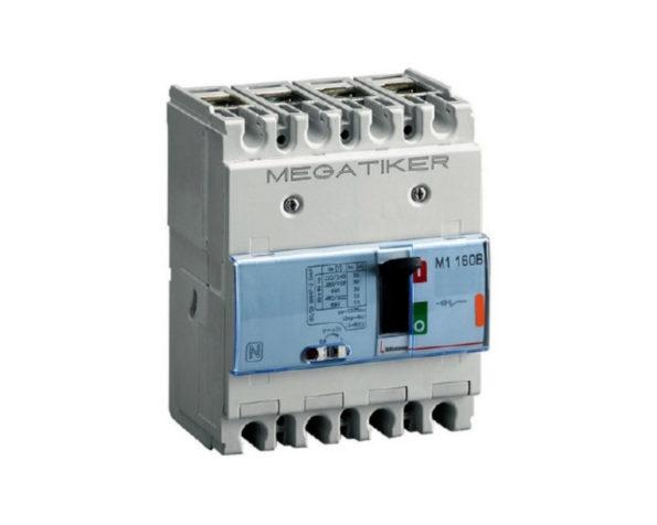 M1 160B – Interruttore scatolato MEGATIKER magnetotermico 3P+N/2 – Icu=25kA – In=160A