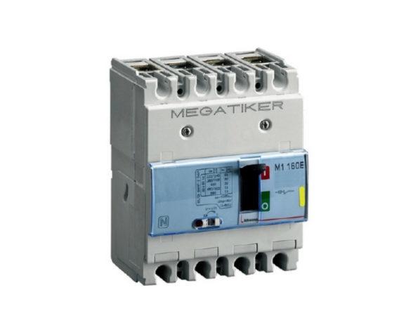 M1 160E – Interruttore scatolato MEGATIKER magnetotermico 3P+N/2 – Icu=16kA – In=100A
