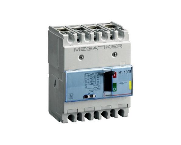 M1 160E – Interruttore scatolato MEGATIKER magnetotermico 3P+N/2 – Icu=16kA – In=125A