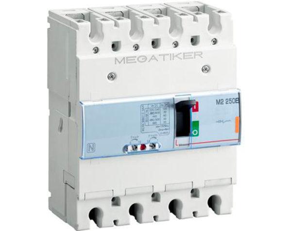 M2 250B – interruttore scatolato MEGATIKER magnetotermico 3P+N/2 – Icu=25kA – In=160A