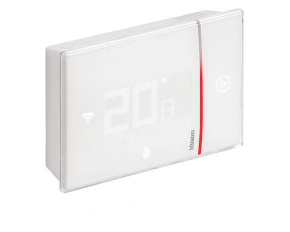 Termostato Smarther connesso Wi-Fi da parete bianco