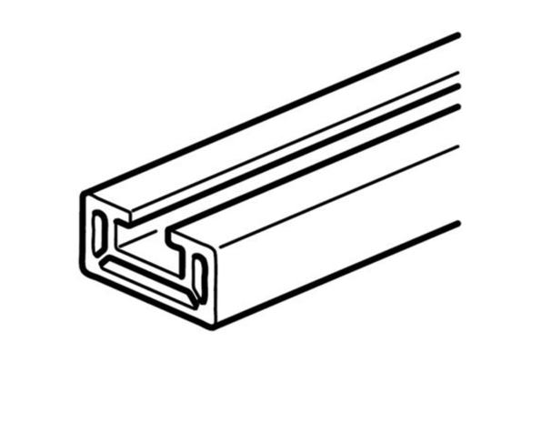 Barra in alluminio con profilo a C – In=250A (IP>30) 320A (IP<30) – lunghezza 1,6m – sezione 97mmq