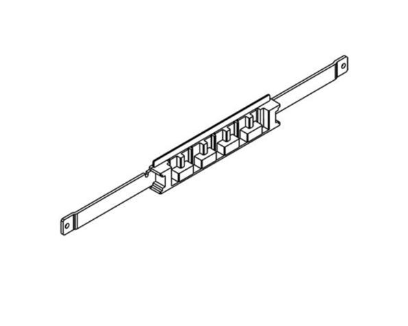Portabarre di fondo/testata per 4 barre da installare su FONDOATTIVO in MAS400 larghezza 850mm
