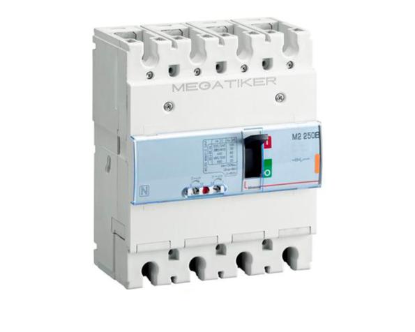 M2 250B – interruttore scatolato MEGATIKER magnetotermico 3P+N/2 – Icu=25kA – In=250A
