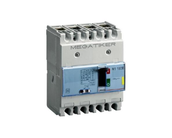 M1 160E – Interruttore scatolato MEGATIKER magnetotermico 3P+N/2 – Icu=16kA – In=80A