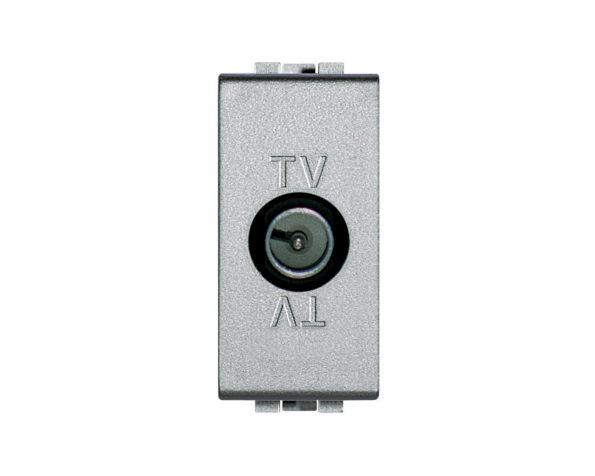 Presa TV coassiale diretta con connettore maschio e condensatore – Tech